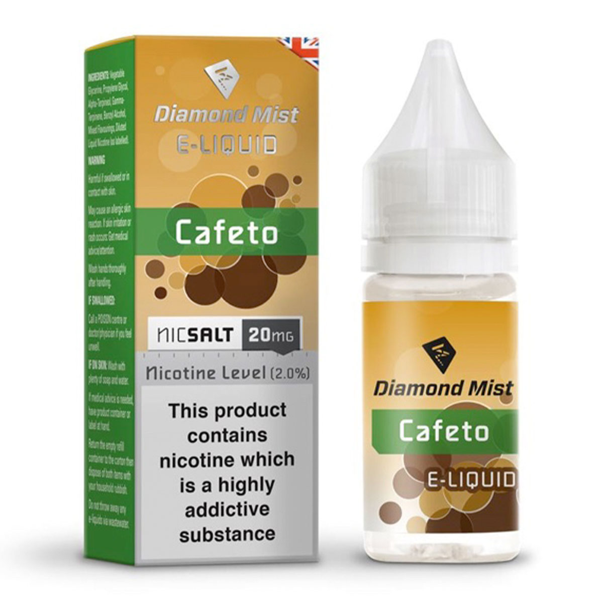CAFETO NIC SALT BY DIAMOND MIST