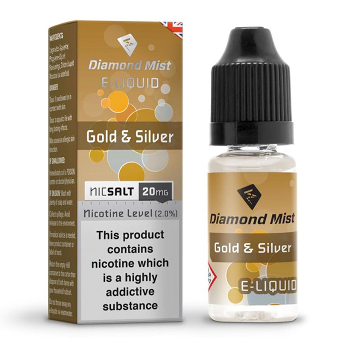 GOLD & SILVER NIC SALT BY DIAMOND MIST