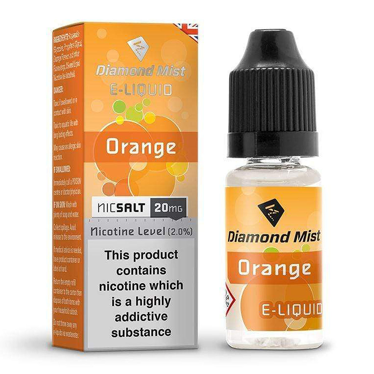 ORANGE NIC SALT BY DIAMOND MIST