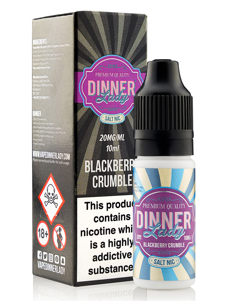 BLACKBERRY CRUMBLE SALT NIC BY DINNER LADY