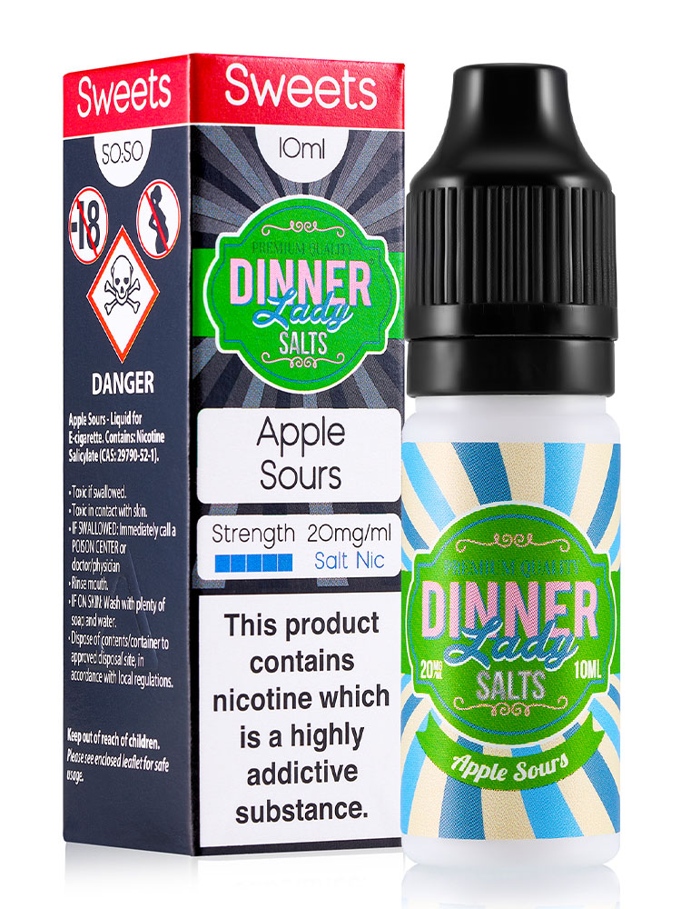 APPLE SOURS SALT NIC BY DINNER LADY