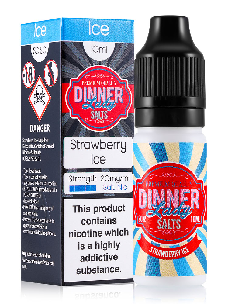 STRAWBERRY ICE SALT NIC BY DINNER LADY