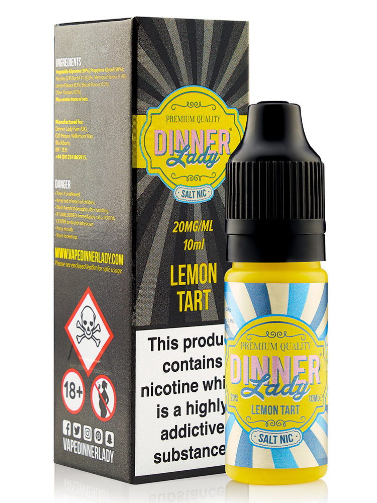 LEMON TART SALT NIC BY DINNER LADY