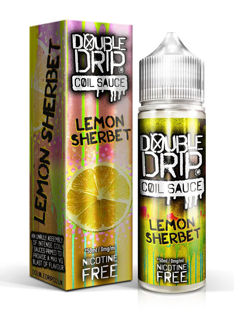 LEMON SHERBET BY DOUBLE DRIP