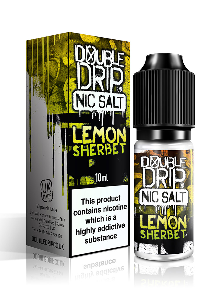 LEMON SHERBET NIC SALT BY DOUBLE DRIP
