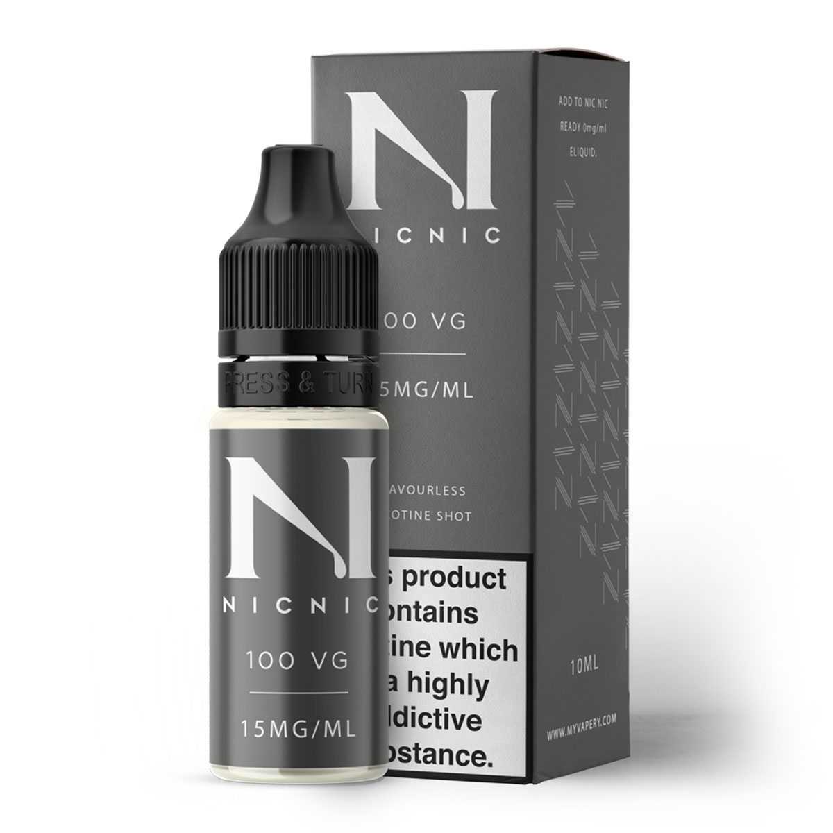 NICOTINE SHOT 100 VG 15MG BY NIC NIC