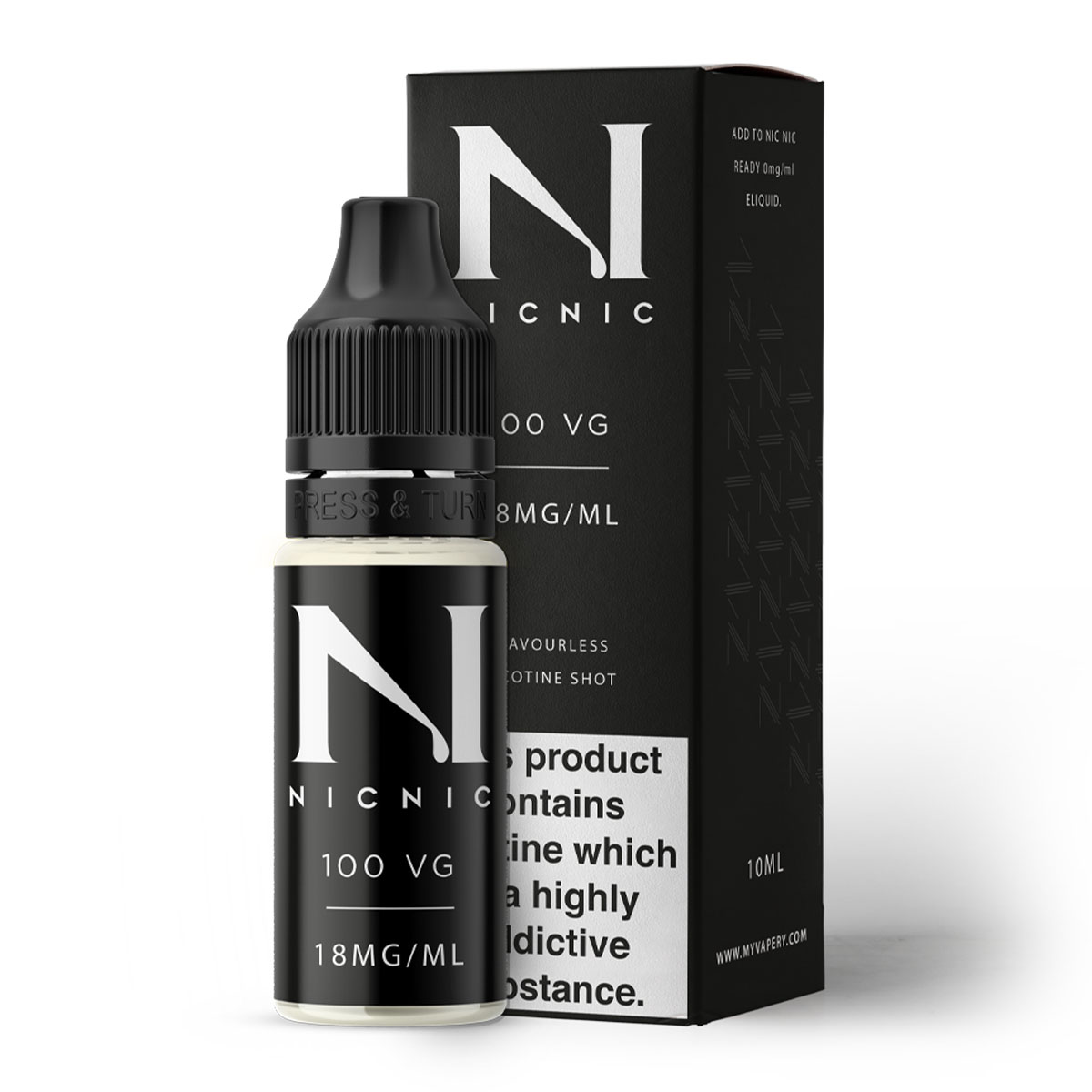 NICOTINE SHOT 100 VG 18MG BY NIC NIC