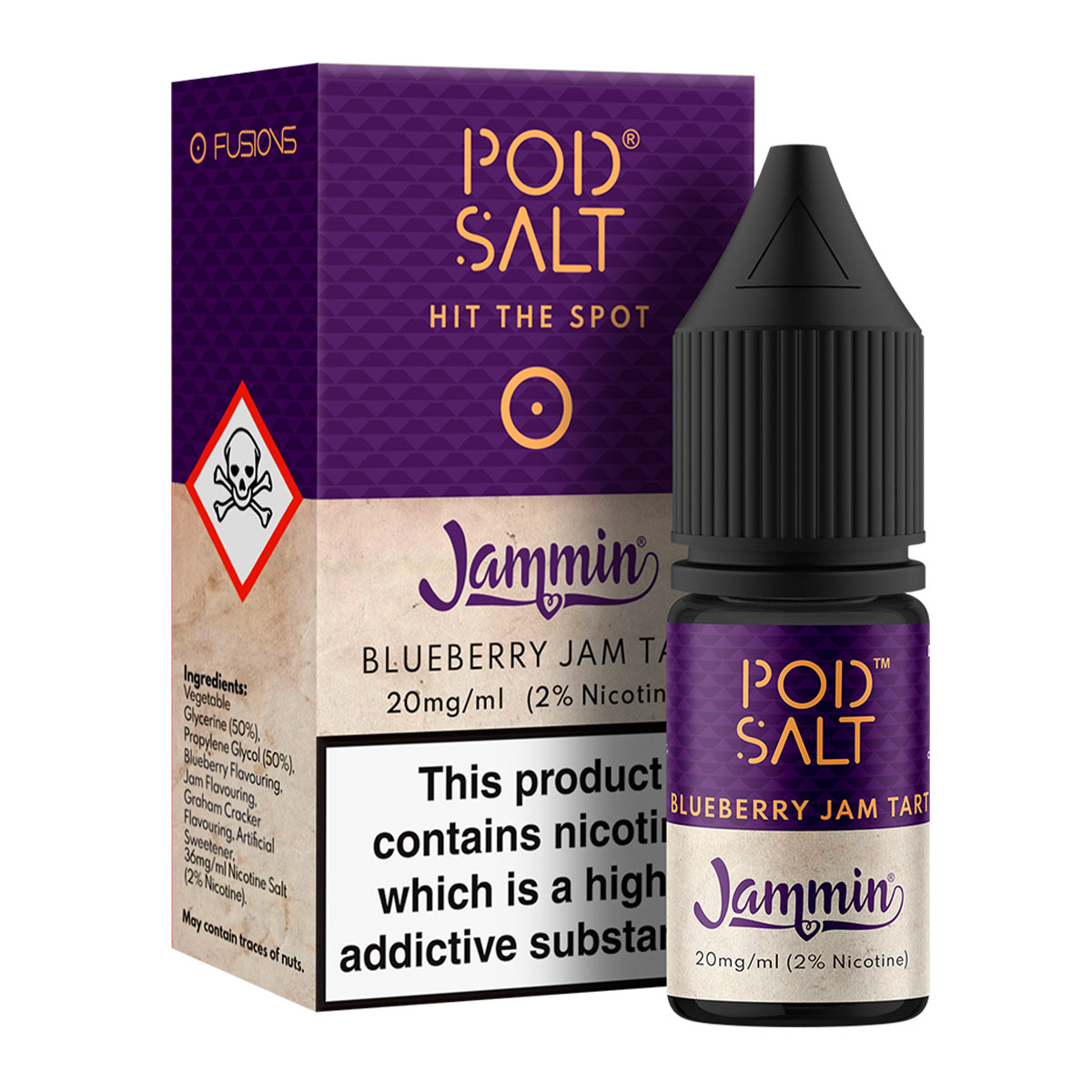 BLUEBERRY JAM TART - JAMMIN BY POD SALT FUSIONS