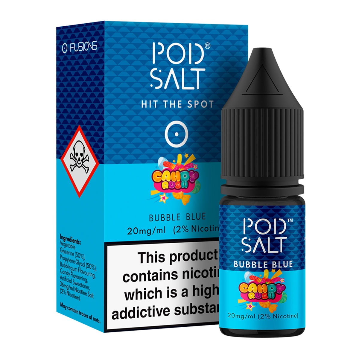 BUBBLE BLUE - CANDY RUSH BY POD SALT FUSIONS
